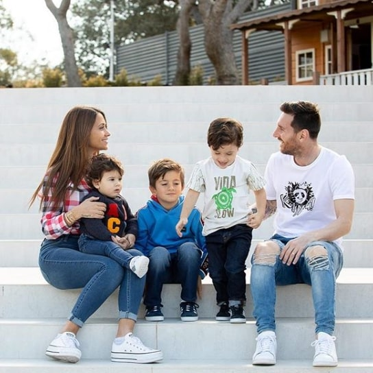 Messi and Family