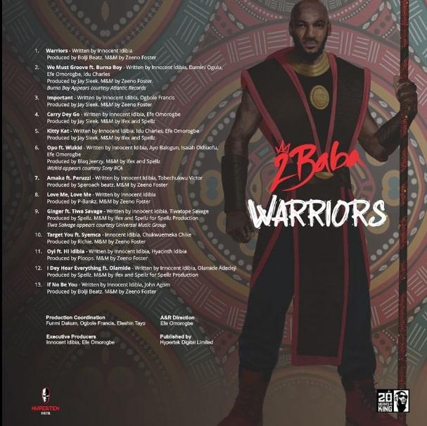 2face Warriors Album Art Cover