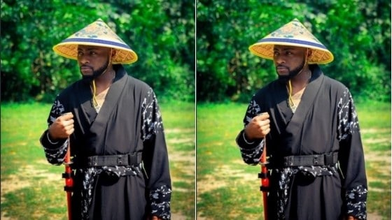 Davido on Chinese Attire